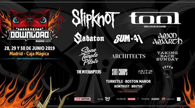 Slipknot protagoniza el cartel del Download 2019